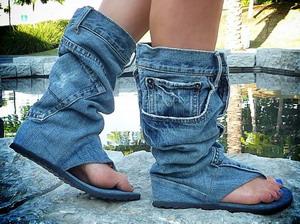 Модерни обувки - дънки